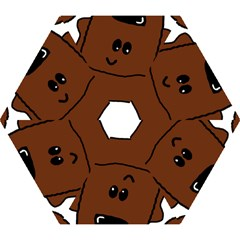 Peeping Chocolate Poodle Mini Folding Umbrellas