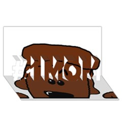 Peeping Chocolate Poodle #1 MOM 3D Greeting Cards (8x4)