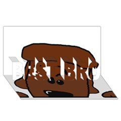 Peeping Chocolate Poodle BEST BRO 3D Greeting Card (8x4)