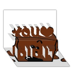Peeping Chocolate Poodle You Did It 3D Greeting Card (7x5)