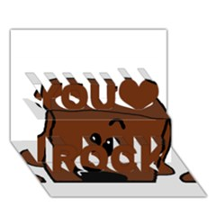 Peeping Chocolate Poodle You Rock 3D Greeting Card (7x5)