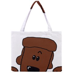 Peeping Chocolate Poodle Tiny Tote Bags