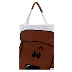 Peeping Chocolate Poodle Classic Tote Bags