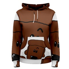 Peeping Chocolate Poodle Women s Pullover Hoodies