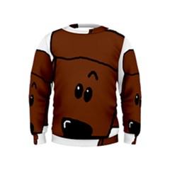 Peeping Chocolate Poodle Boys  Sweatshirts