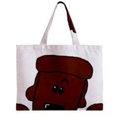 Peeping Chocolate Poodle Zipper Tiny Tote Bags