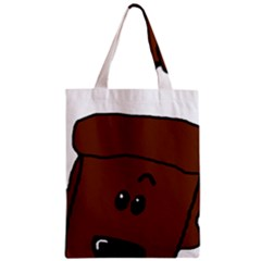 Peeping Chocolate Poodle Zipper Classic Tote Bags