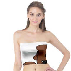 Peeping Chocolate Poodle Women s Tube Tops