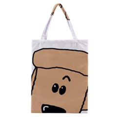 Peeping Peach Poodle Classic Tote Bags
