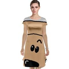 Peeping Peach Poodle Cap Sleeve Nightdresses