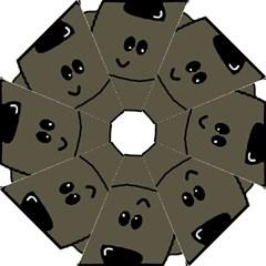 Peeping Silver  Poodle Hook Handle Umbrellas (Medium)