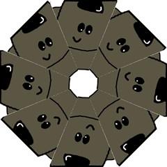 Peeping Silver  Poodle Hook Handle Umbrellas (Small)