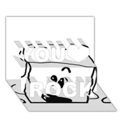 Peeping White Poodle You Rock 3D Greeting Card (7x5)