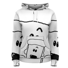 Peeping White Poodle Women s Pullover Hoodies