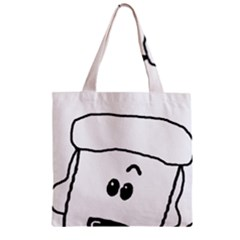 Peeping White Poodle Zipper Grocery Tote Bags