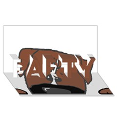 Peeping Boxer PARTY 3D Greeting Card (8x4)
