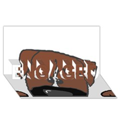 Peeping Boxer ENGAGED 3D Greeting Card (8x4)