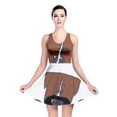 Peeping Boxer Reversible Skater Dresses
