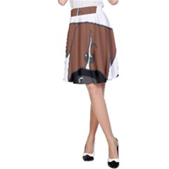 Peeping Boxer A-Line Skirts
