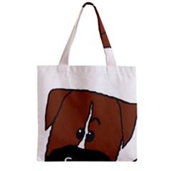 Peeping Boxer Zipper Grocery Tote Bags