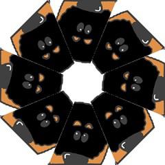 Peeping Rottweiler Hook Handle Umbrellas (Large)