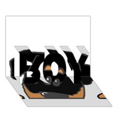 Peeping Rottweiler BOY 3D Greeting Card (7x5)