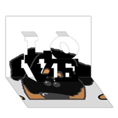 Peeping Rottweiler LOVE 3D Greeting Card (7x5)