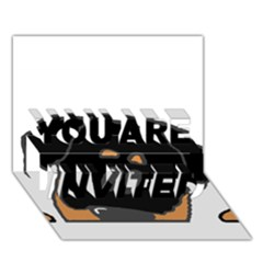 Peeping Rottweiler YOU ARE INVITED 3D Greeting Card (7x5)