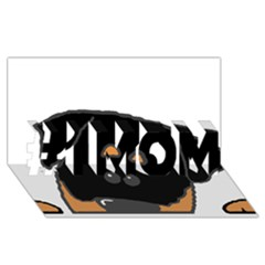 Peeping Rottweiler #1 MOM 3D Greeting Cards (8x4)