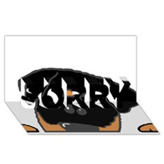 Peeping Rottweiler SORRY 3D Greeting Card (8x4)
