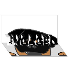 Peeping Rottweiler ENGAGED 3D Greeting Card (8x4)