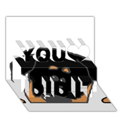 Peeping Rottweiler You Did It 3D Greeting Card (7x5)