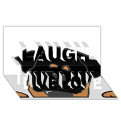 Peeping Rottweiler Laugh Live Love 3D Greeting Card (8x4)