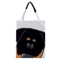 Peeping Rottweiler Classic Tote Bags
