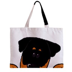 Peeping Rottweiler Zipper Tiny Tote Bags