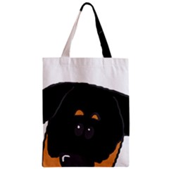 Peeping Rottweiler Zipper Classic Tote Bags