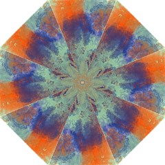 Abstract in Green, Orange, and Blue Straight Umbrellas