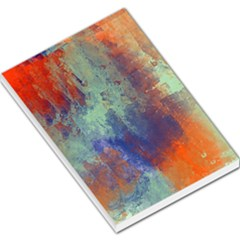 Abstract in Green, Orange, and Blue Large Memo Pads
