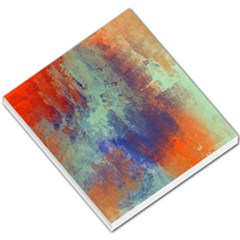 Abstract In Green, Orange, And Blue Small Memo Pads