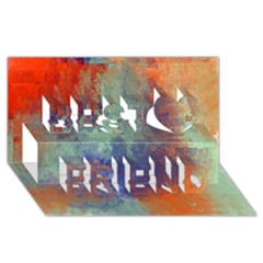 Abstract In Green, Orange, And Blue Best Friends 3d Greeting Card (8x4)