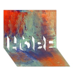 Abstract in Green, Orange, and Blue HOPE 3D Greeting Card (7x5)