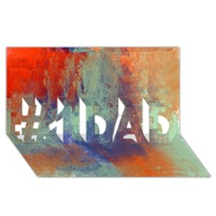 Abstract in Green, Orange, and Blue #1 DAD 3D Greeting Card (8x4)