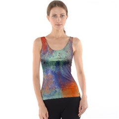 Abstract in Green, Orange, and Blue Tank Tops