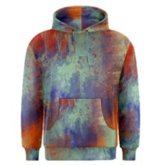 Abstract in Green, Orange, and Blue Men s Pullover Hoodies