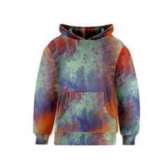 Abstract In Green, Orange, And Blue Kid s Pullover Hoodies