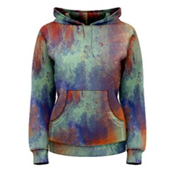 Abstract in Green, Orange, and Blue Women s Pullover Hoodies