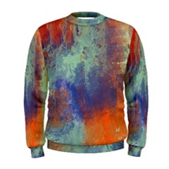 Abstract in Green, Orange, and Blue Men s Sweatshirts