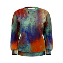 Abstract In Green, Orange, And Blue Women s Sweatshirts