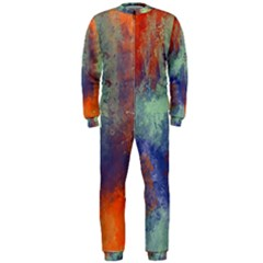 Abstract in Green, Orange, and Blue OnePiece Jumpsuit (Men)