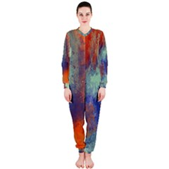 Abstract in Green, Orange, and Blue OnePiece Jumpsuit (Ladies)